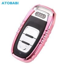цена на ATOBABI TPU Car Key Cover For Audi A3 A4 A5 A6 A7 A8 Q5 Q7 TT Pink Smart Remote Control Fob Case Keychain Protect Bag Accessory