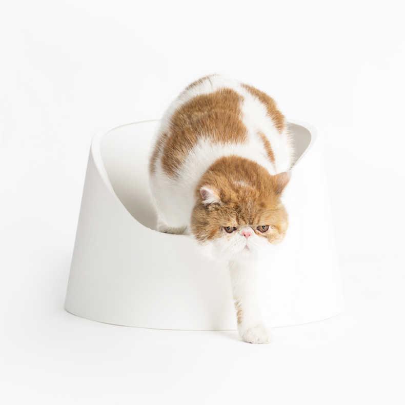 Vassoio Lettiera Mobili Gatto Wc Pet Toilette Gatto Wc Grande Lettiera Catcher Semi Chiuso Kedi Tuvaleti Animali Prodotti EE50MC