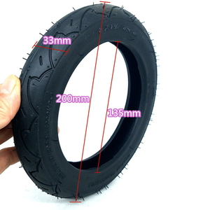 """Image 5 - 1 pc 8"""" 8X1 1/4 (200*45) Pneumatic Tire Inflatable Full Wheel For Electric Scooter Full Round Wheel"""