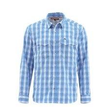 S* MMS Мужская рыболовная рубашка LS клетчатая рубашка быстросохнущая UPF50 УФ рыболовная одежда рыболовные рубашки мужские Camisa США размер s-xxl
