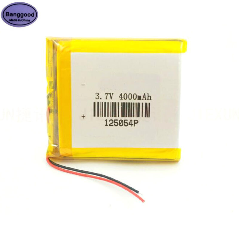 3.7V 4000mAh <font><b>125054</b></font> Lipo Polymer Lithium Rechargeable Li-ion Battery For Smart Phone MP3 MP4 Navigation Instruments Toys image