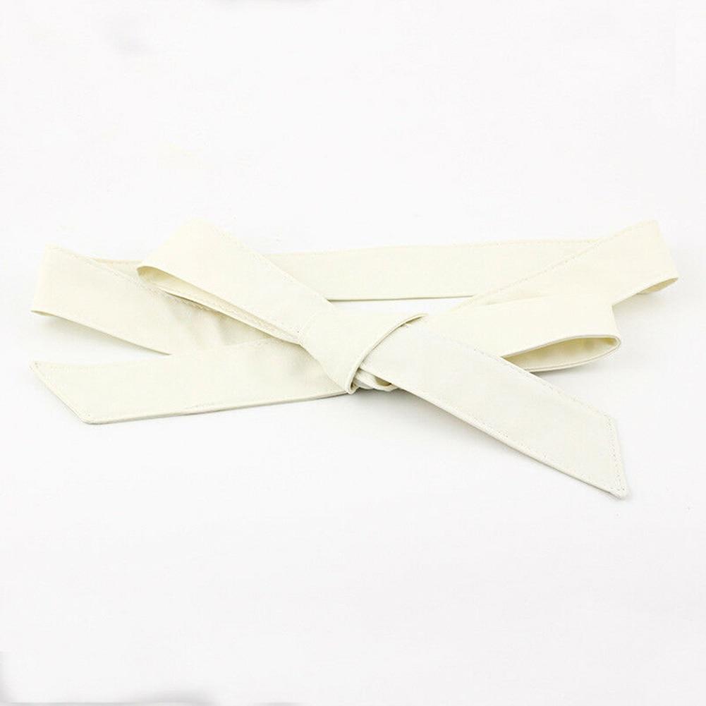Silk Soft Self Tie Fashion Ladies Corset Wrap Around Bowknot Women Waist Belt Waistband Casual Dress Decor Ribbon Wide