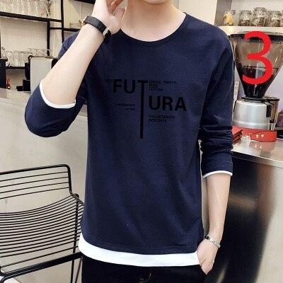 Che Basa La Camicia a Maniche Lunghe da Uomo Autunno E L'inverno Più Velluto Strisce di Tendenza Sottile Coreano T Shirt in Cotone - 3
