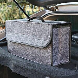 Image 2 - Auto Trunk Organizer Weichem Filz Lagerung Box Große Anti Slip Fach Boot Lagerung Organizer Werkzeug Tasche Auto Lagerung Tasche
