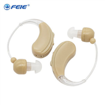 Deaf ear hearing aid Rechargeable Mini Headset for Both Ears Elderly Hearing Loss Earphone with USB Charger S-109S Free Shipping