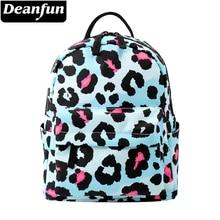 Deanfun Backpack Women 3D Printed Blue Leopard Fashion Waterproof Mini Small For Teenage Girls MNSB-4