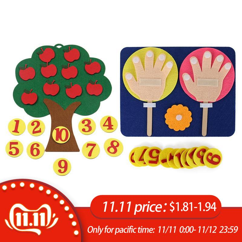 Montessori  Math Toys Teaching Aids Tool Trees Intelligence Kindergarten Diy Weave Cloth Early Learning Education Toys