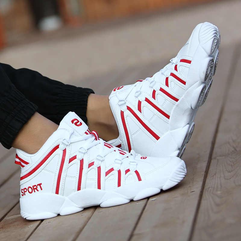 Erkek basket topu Sneakers Unisex açık yüksek top basketbol ayakkabıları erkek yastıklama spor ayakkabı büyük boy 32-46 savaş botları yeni