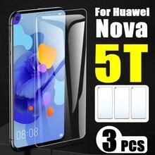 3 pçs em para huawei nova 5 t vidro huavei 5 t película protetora para nova5t 5tnova protetor de tela huauii folha temperado vidro 9h