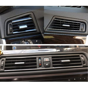 Image 5 - LHD Front Row Wind Left Center Right Air Conditioning Vent Grill Outlet Panel With Chrome Plate For BMW 5 Series F10 F18