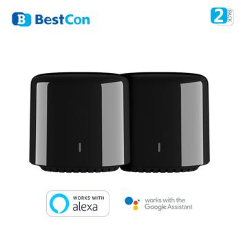 BroadLink RM4 BestCon RM4C mini Wi-Fi inteligentne uniwersalne zdalne sterowanie głosem z Google Home i Alexa Smart Home HUB tanie i dobre opinie Ready-to-go SOLAR 2 kanały wireless 100-250VAC 50 60hZ 5V DC 1A Wi-Fi 802 11 360 degree IR Control CE Rohs FCC Air-con TV DVD etc