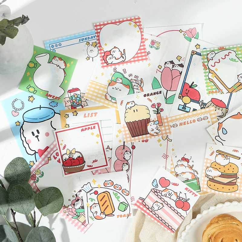 6PCS/LOT Happy Trainee Series Cute Illustration Paper Memo Pad