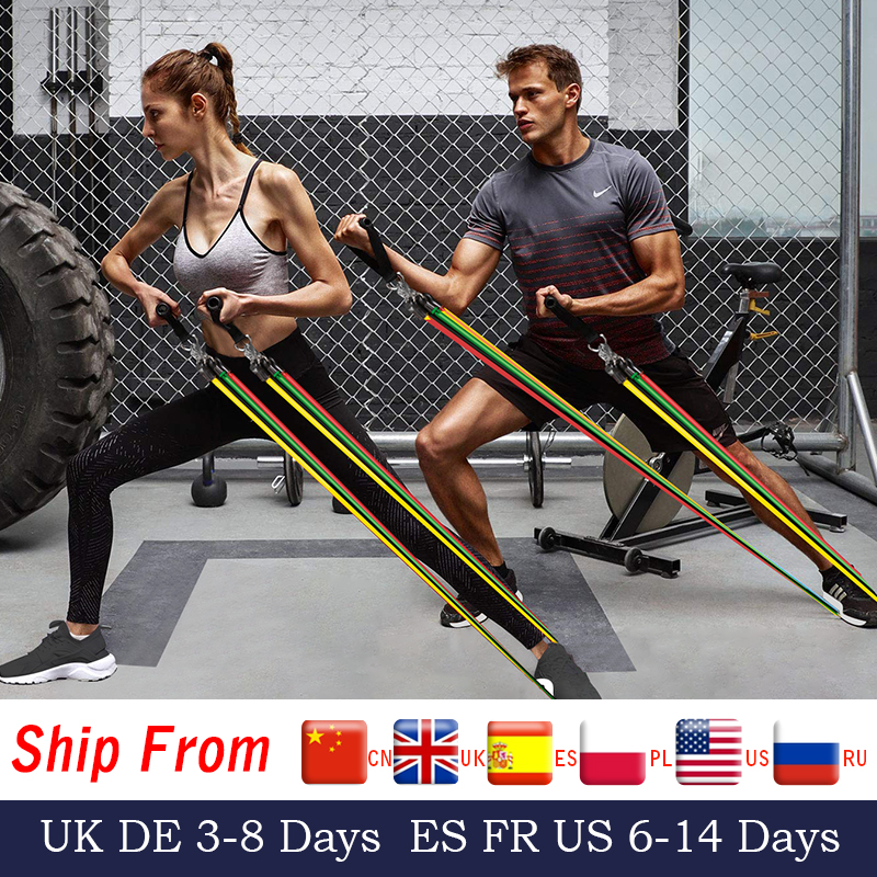 15pcs Fitness Resistance Bands Pull Rope Rubber Expander Elastic Bands for Body Training Workout Yoga|Resistance Bands| - AliExpress