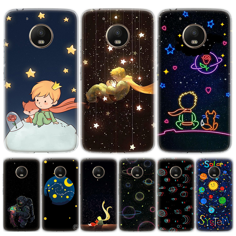 Cartoon Cute Boy Astronaut Phone Case For Motorola MOTO G8 G7 G6 G5 G5S G4 E6 E5 E4 Plus Play Power One Action Soft Silicone TPU