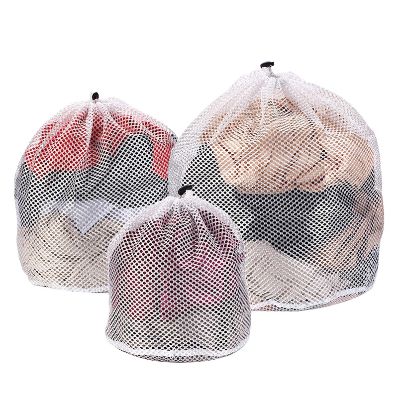 3 Pcs Drawstring Lingerie Laundry Wash Bags Set For Delicates Garments, Blouse, Sweaters, Bras, And Quilts, Include 3 Different