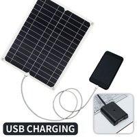 Energy Saving Solar Panel Monocrystalline Silicon DIY Travel 12V 15W USB Crocodile Clip Outdoor Camping Sunlight Solar Cell