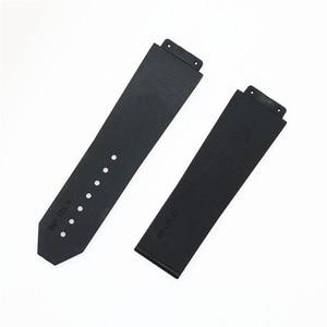 Image 5 - 6 גודל שחור סיליקון רצועת עבור היתוך קלאסי סדרת קוסמי גדול פיצוץ סדרת שעון צמיד עם 27mm 25mm אבזרים
