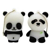 Metin karikatür hayvan USB Flash sürücü mini güzel Panda kalem sürücü özel hediye karikatür