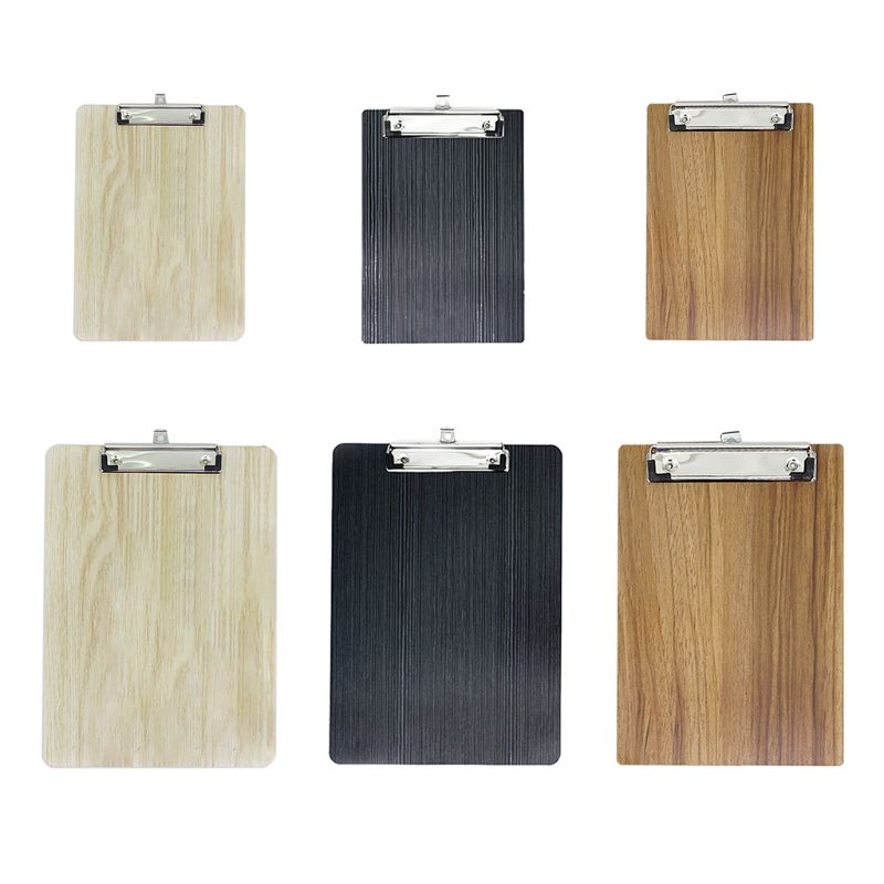 2021 New Portable A4 A5 Wooden Writing Clipboard File Hardboard Office School Stationery
