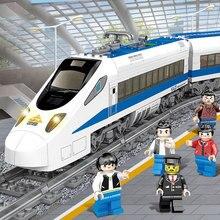 Радиоуправляемые поезда электрическая Игрушечная модель поезда Рождество дистанционное управление железнодорожная станция моделирование модели треков наборы Maersk строительные блоки
