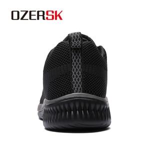 Image 3 - Ozersk 2020 Merk Mannen Casual Schoenen Ademende Lace Up Wandelschoenen Lichtgewicht Comfortabele Mesh Mannen Sneakers Schoenen Maat 39 ~ 45