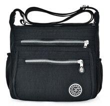 De Nieuwe Europese Stijl Mode Vrouwen Messenger Bags Single Schoudertas Met Canvas Lichtgewicht Dubbele Zak Waterdichte Tas