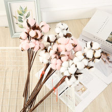 10 sheets of single dried cotton branch DYI artificial bouquet natural creative living room party decoration garden home decor