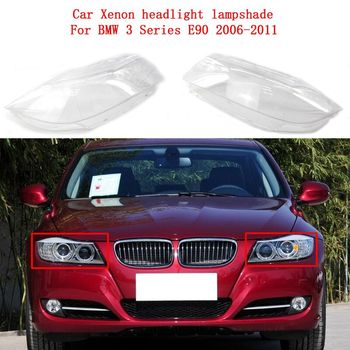 Lamp shell masks headlights cover Car Xenon Headlight glass headlamps transparent lampshade for BMW 3 Series E90 2006-2011