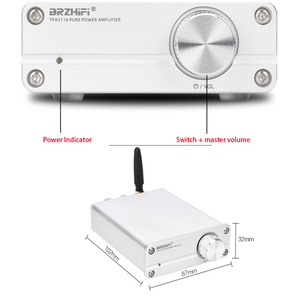 Image 4 - KYYSLB TPA3116 MINI 5.0 บลูทูธเครื่องขยายเสียงDC12 ~ 24 V 100W * 2 QCC3003 HIFIสเตอริโอHome Audioเครื่องขยายเสียงดิจิตอล 4 ~ 8 ยูโร