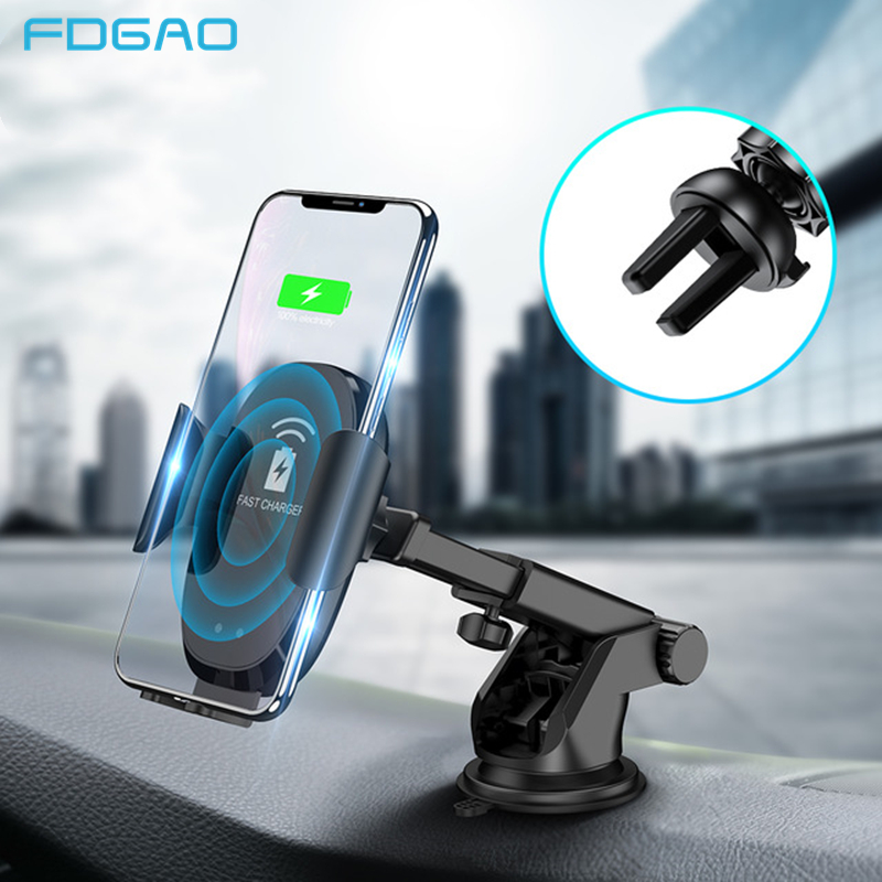 and More Wireless Car Charger Vent Mount Infrared Sensor Auto Clamping Samsung Galaxy S10//S10+//S9//S9+//S8//S8 10W//7.5W//5W QI Fast Charging Air Vent Phone Holder for iPhone Xs Max//XS//XR//X//8//8+