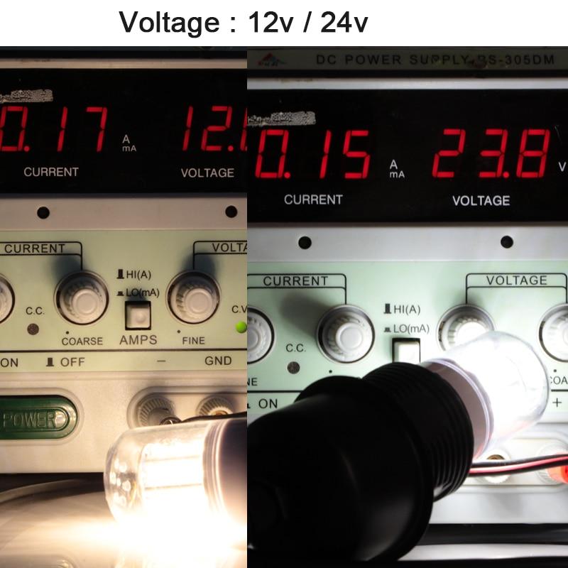 Купить с кэшбэком bombillas led e27 corn bulb 3W Ac Dc 12v to 24v 5730 light 12 24 V volts low voltage energy saving lamp 360 degree 3000K 6000K