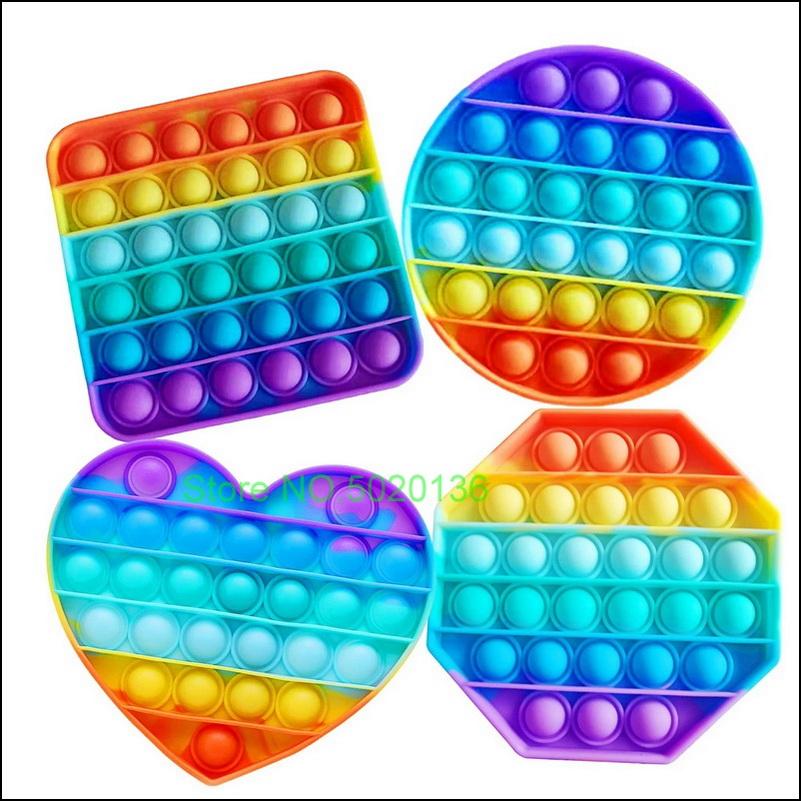 Pop It Hot Push Bubble Fidget Toys Adult Stress Relief Toy Antistress PopIt Soft Squishy Anti Stress Gift Anti Stress Box Poppit