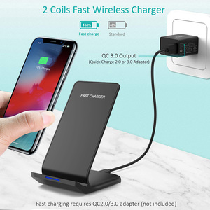 Image 5 - FDGAO Qi Wireless Charger Stand For iPhone 11 Pro X XS MAX XR 8 Plus Samsung S9 S10 S10E 15W Fast Wireless Charging Dock Station