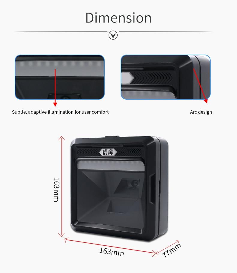 varejo superme usb desktop scanner omni scanner