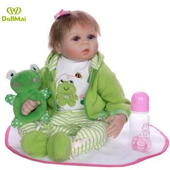 Baby Reborn Doll Boy Alive Toys for Children gift 22 Inch 55cm Soft Silicone reborn baby doll boneca reborn bebe