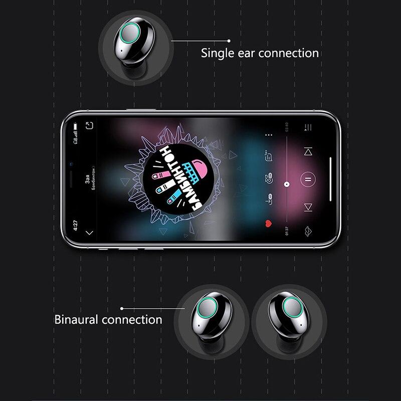 Смарт-сенсорный Bluetooth-гарнитура беспроводные регулировка громкости автоответчика музыка переключатель зарядки