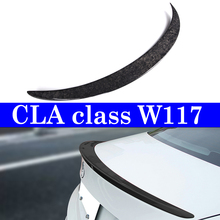 Forged Carbon Spoiler Lip For Mercedes-benz C117 Trunk Deck W117 CLA 180 250 2013+