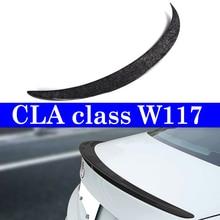 Forged Carbon Spoiler Lip For Mercedes-benz C117 Trunk Deck Lip Spoiler W117 CLA 180 CLA 250 2013+ недорого
