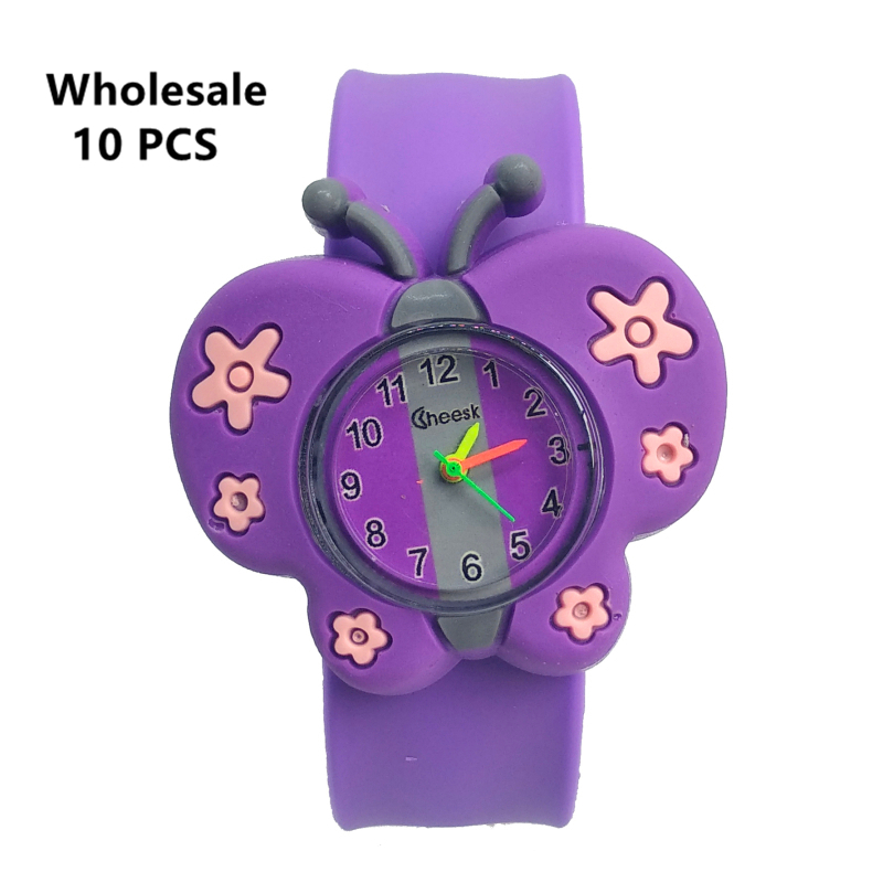 3D Butterfly Silicone Kids Watches Waterproof Children Watch Child Quartz Digital Watch Clock Boys Girls Baby Gift Montre Enfant