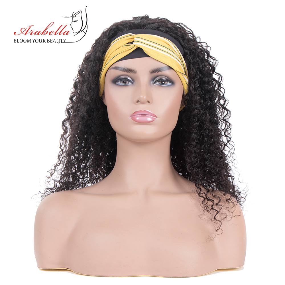Jerry Curly  Wigs With Headband  Hair Full Machine Made Wig  Easy to Install ARABELLA Glueless Wig 1