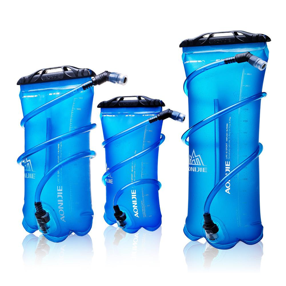 Yiwa Portable Soft TPU Foldable Sports Water Bottle Bag Pocket for Running Camping Hiking