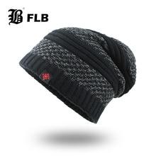 [FLB] Зимние шапочки высокого качества мужские шапки маска Warm капот Теплые Мешковатые зимние шапки для мужчин и женщин Skullies шапки F18075