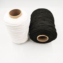 Оптовая продажа эластичная резинка 3 мм белого и черного цвета