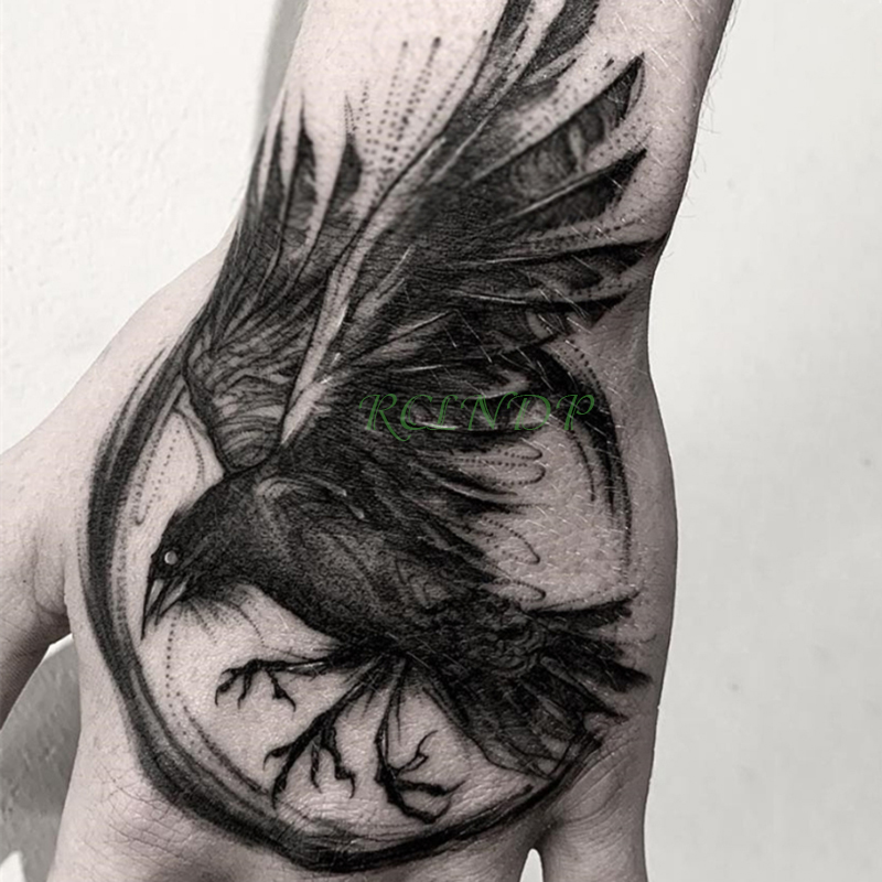 Waterproof Temporary Tattoo Sticker eagle wing Fake Tatto Flash Tatoo Hand Arm middle size art Tattoos for boy Women Men
