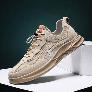 Image 1 - Hommes chaussures décontractées confortable mode vulcaniser chaussures automne respirant baskets hommes loisirs de plein air chaussures Zapatillas Hombre