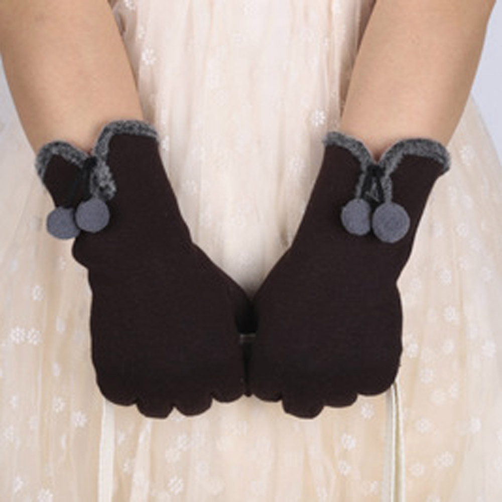 Women Winter Gloves Full Finger Fluffy Warm Touch Screen Motorcycle Cycling Riding windproof guantes