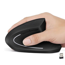 Wireless Vertical Mouse Gaming Computer USB Optical Mice Ergonomic Desktop Upright 1600DPI Mause Gamer for PC Laptop Office Home