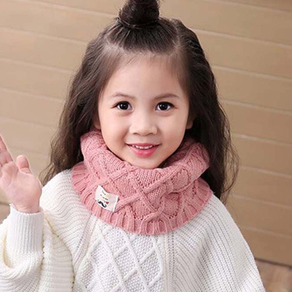 Kids Girls Boy Winter Scarf Warm Snood Knitting Wool Scarf Neckerchief Warmer Wrap Fashion O-Scarves Children Lovely Gifts