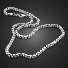 Classic Really 100% 925 sterling silver box chain Fashion men 6mm 18 26 inch silver necklace Hip hop punk male Jewellery