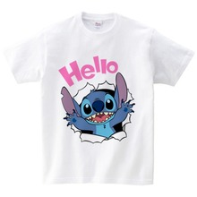 BABY Lilo Stitch Print T Shirt Children T Shirts kids O-neck cotton T-shirt boy/girl leisure t shirt 2020 Summer Top baby tees cotton baby t shirt long sleeve t shirts for babies cartoon o neck top baby boy first birthday outfit boy shirt clothes tees
